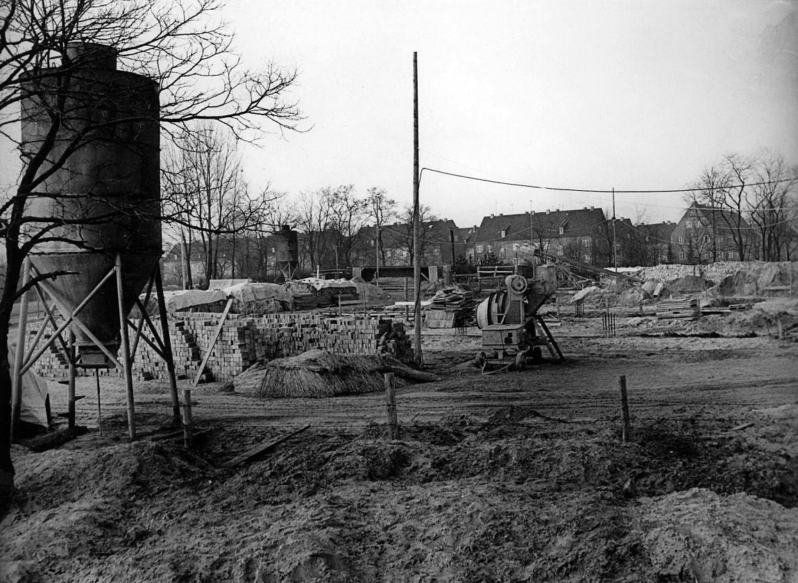 Der Bauplatz am Schwanenteich