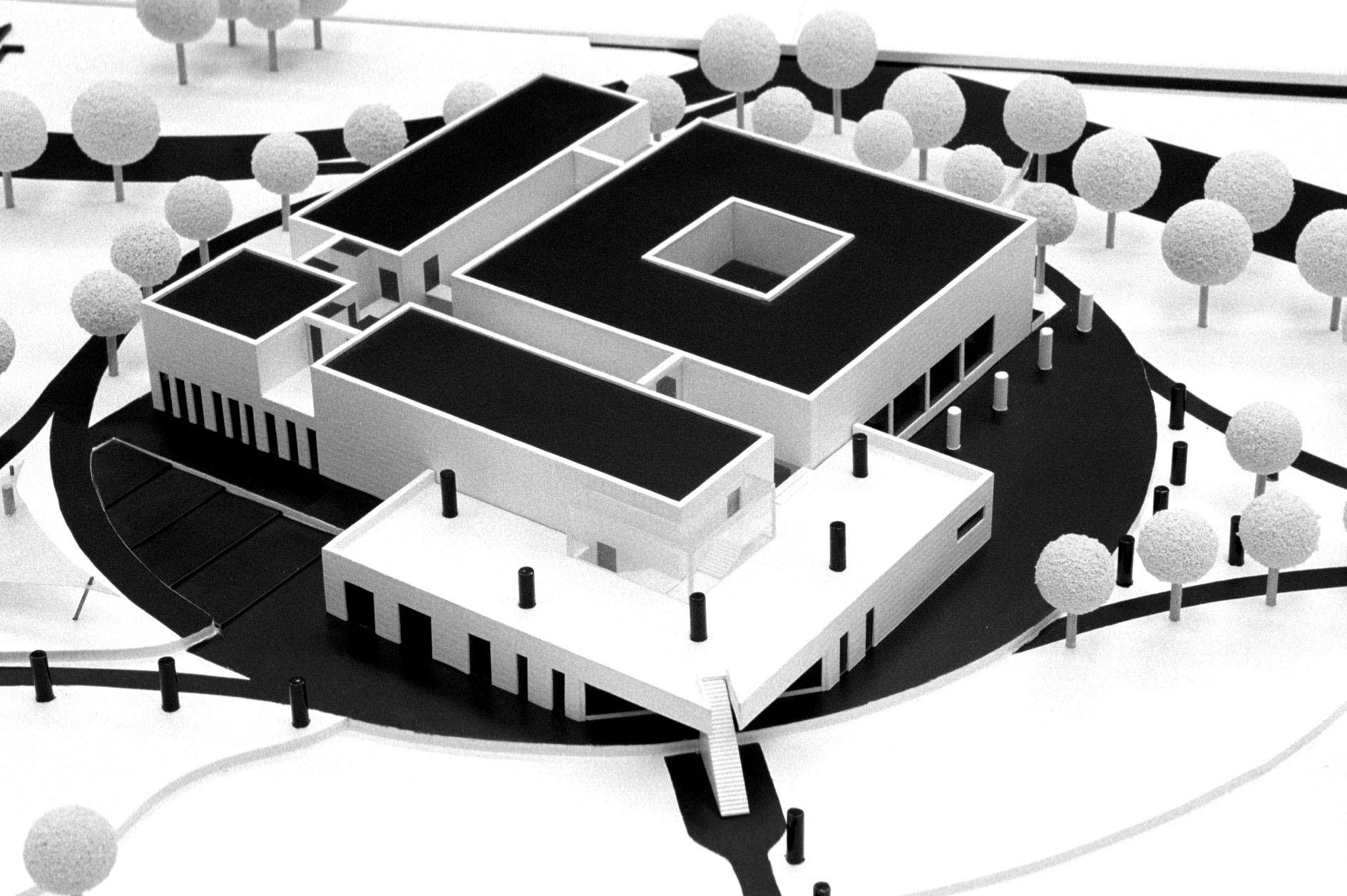 Model der Kunsthalle in der Planung