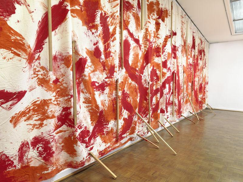 Blick in die Ausstellung von Günther Uecker