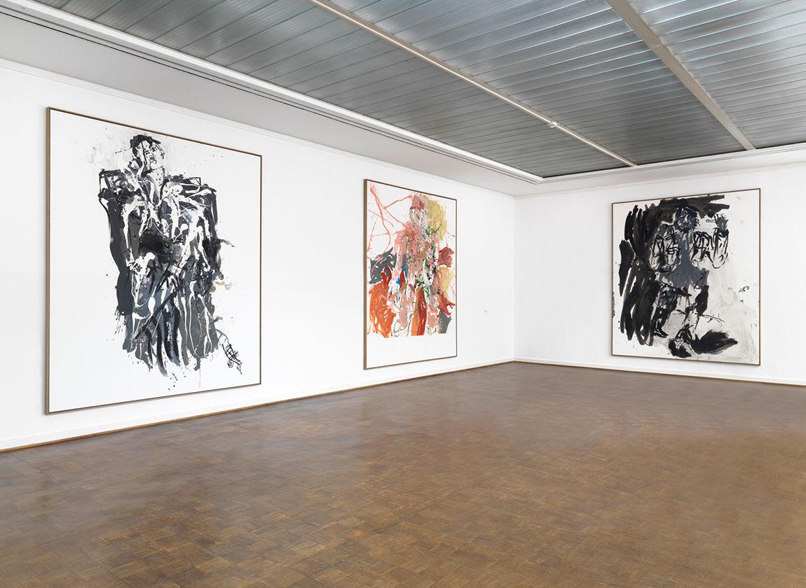 Blick in die Ausstellung von Georg Baselitz