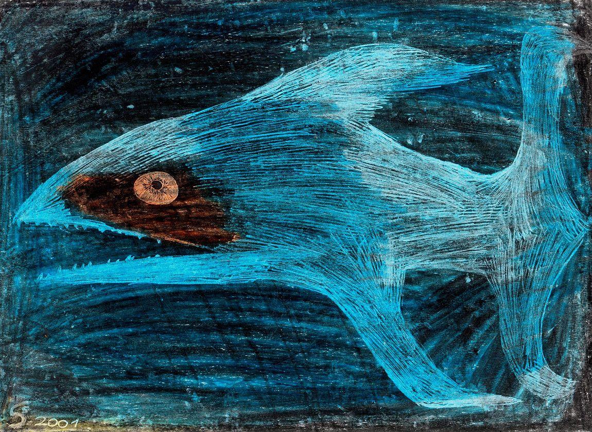 Blauer Fisch, Kind Kunst & Krankheit