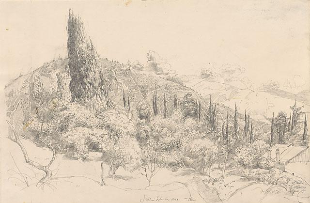Werner Tübke, Landschaft bei Suchumi, © Galerie Schwind Leipzig