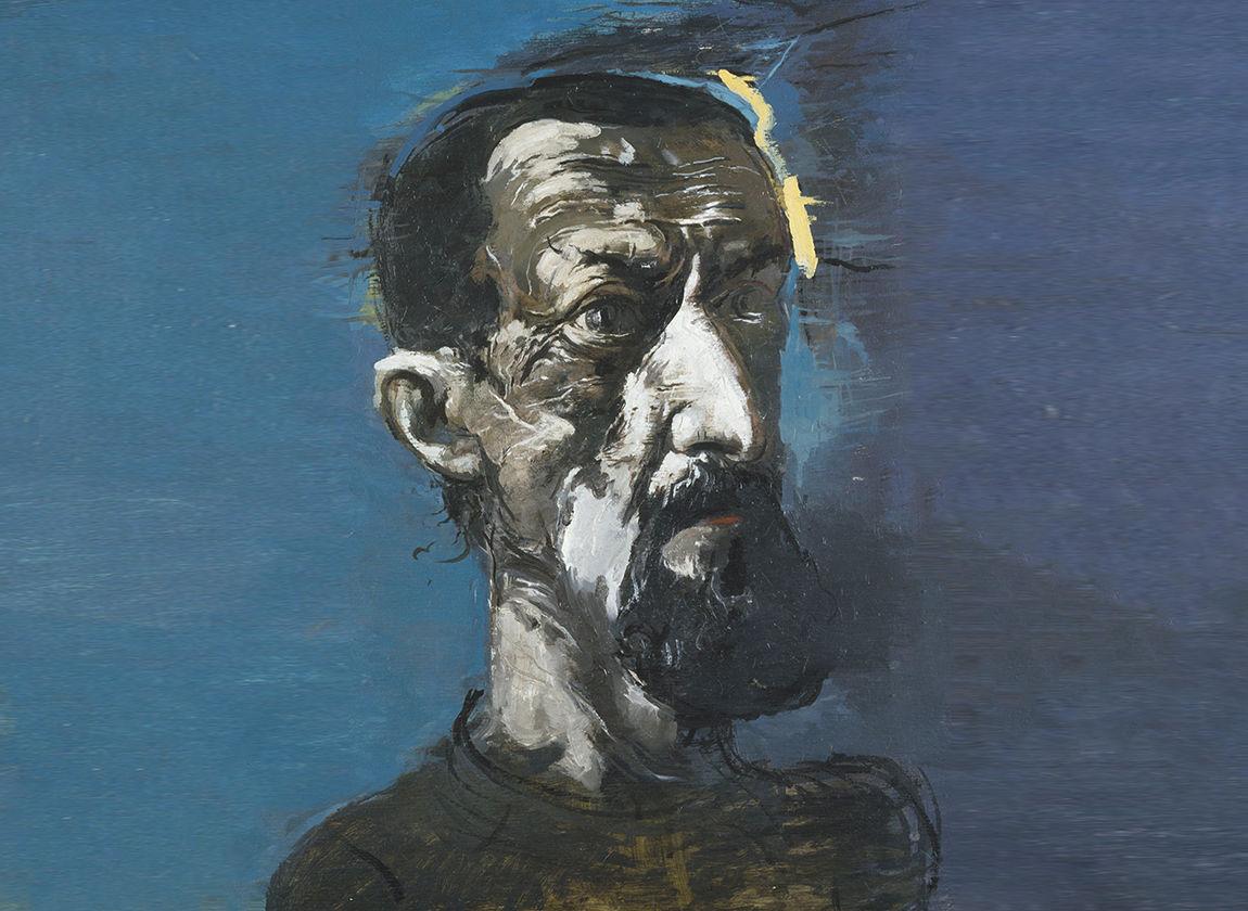 Arno Rink, Blauen Selbst, © Galerie Schwind