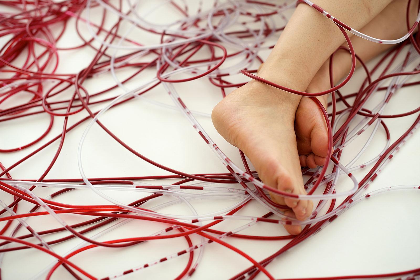 Chiharu Shiota Wall, 2010 (Ausschnitt)
