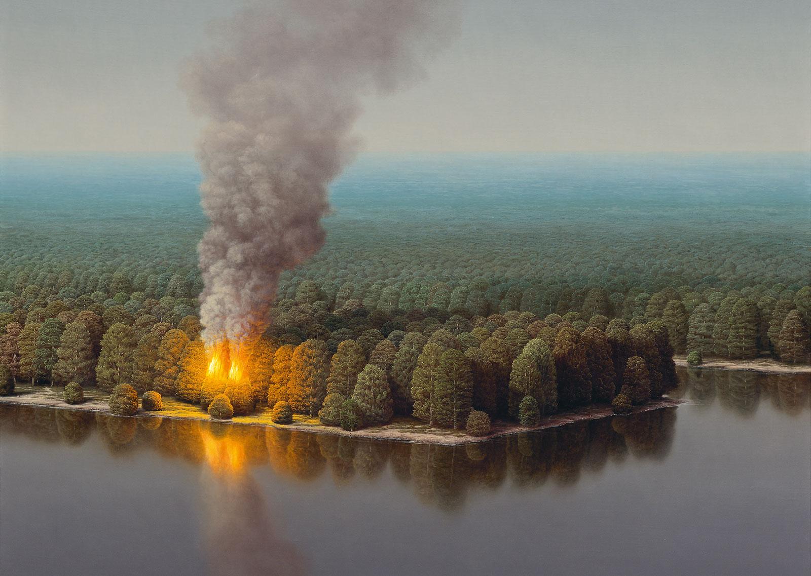 Markus Matthias Krüger Zwei brennende Bäume, 2015 (Ausschnitt)