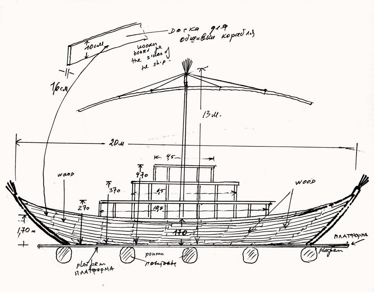 Plans for the Ship of Tolerance © Kabakov