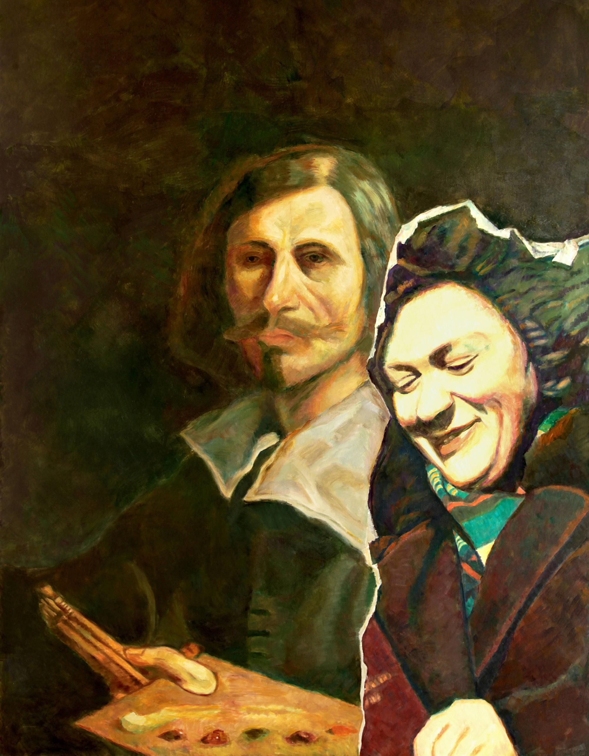 Ilya & Emilia Kabakov  Two Times Nr. 5, 2015  Öl auf Leinwand  284,5 x 190,5 cm  Courtesy Ilya & Emilia Kabakov und Kewenig Berlin | Palma  © VG Bild-Kunst, Bonn 2018