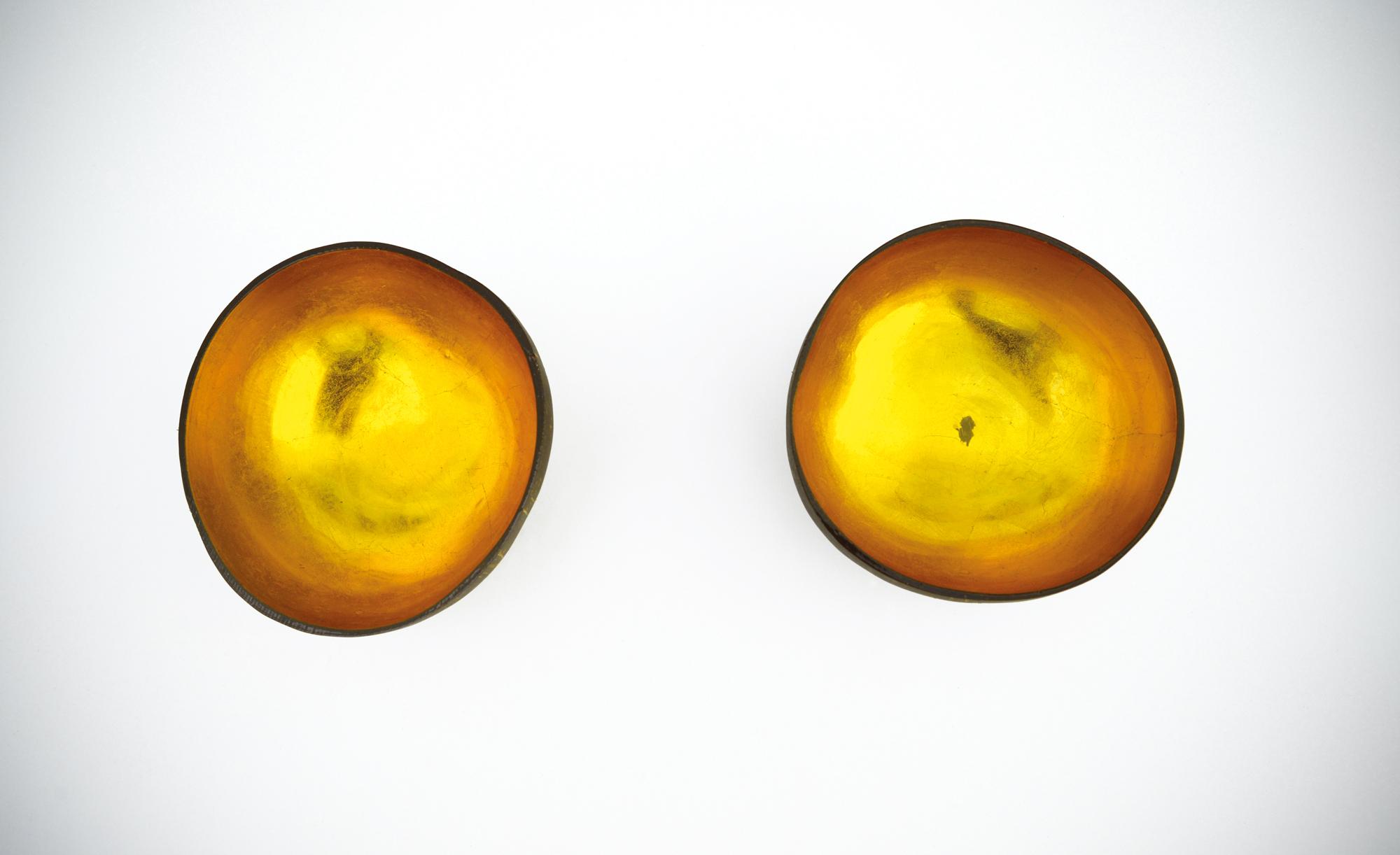 Schalen Herstellungsdatum unbekannt Kokosnuss, innen vergoldet Privatsammlung Rostock Foto: Kunsthalle Rostock