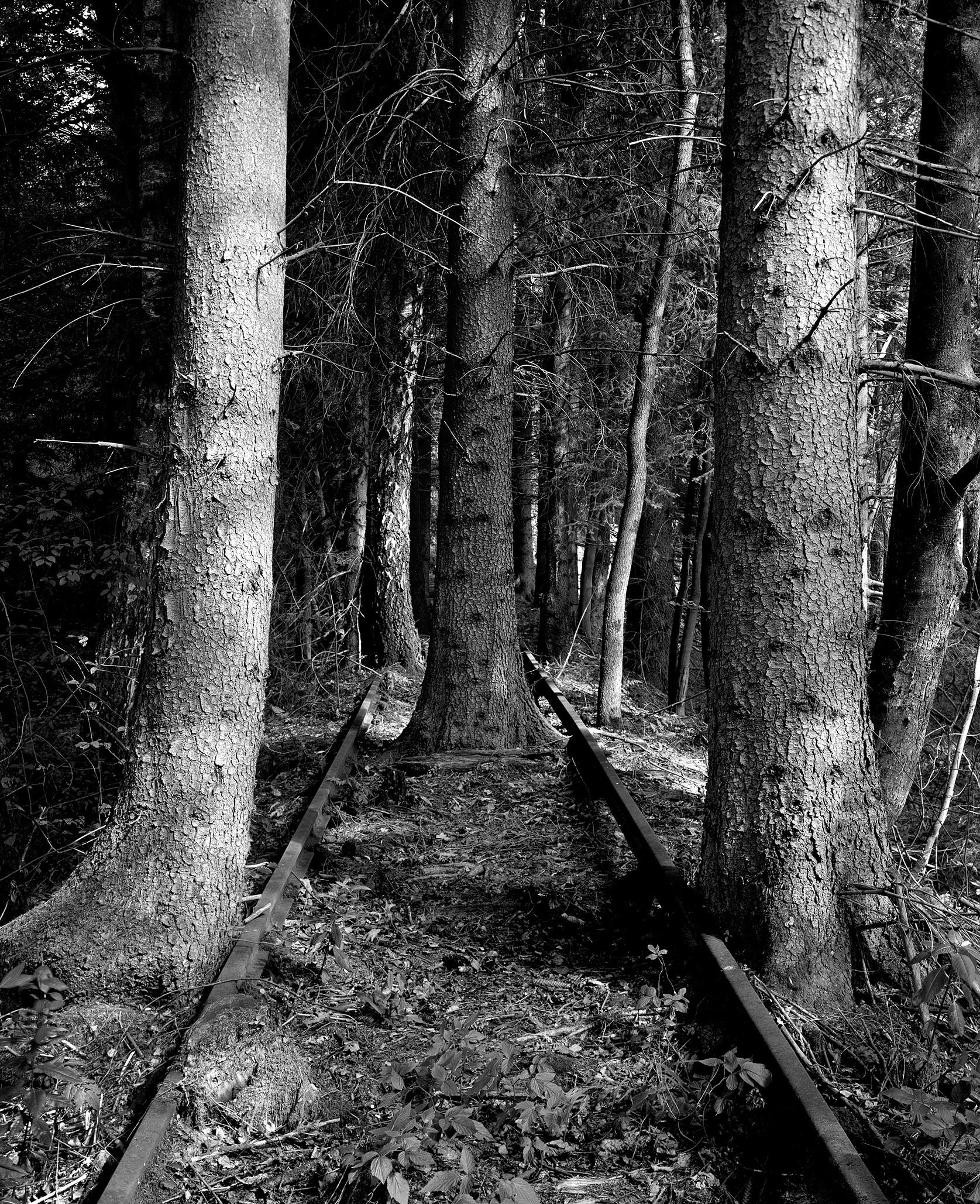 Ute Mahler; Werner Mahler Tettau-Talbahn, Grenze Thüringen / Bayern, 2012.  Aus der Serie » Wo die Welt zu Ende war«, 2010 - 2012 © Ute Mahler, Werner Mahler