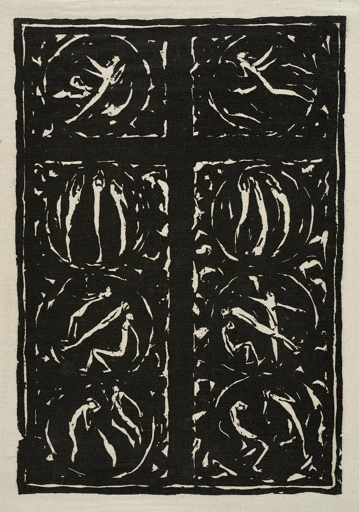 Ewald MALZBURG (1892–1916): Kreuz, 1913 Holzschnitt, 39,2 × 27,3 (45,3 × 32,2) cm KHMR Inv.-Nr. K 348 c G © Kulturhistorisches Museum Rostock/ Foto: Häntzschel, Hormann/nordlicht
